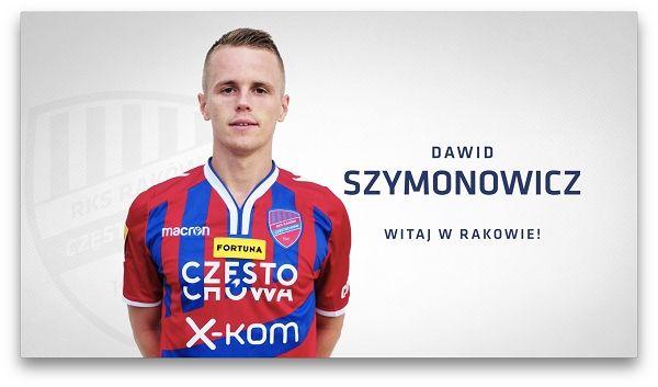 Szymonowicz piłkarzem Rakowa Częstochowa